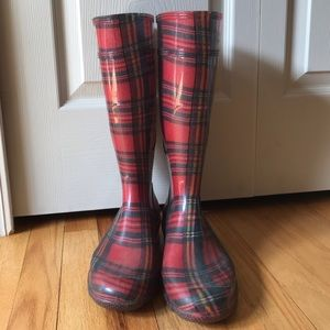 Shoes - Plaid Rain Boots